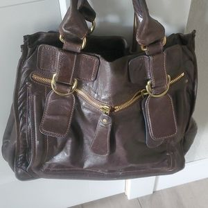 Chloe large leather shoulder bag